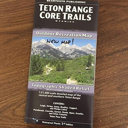Teton Range Wyoming Core Trails Outdoor Recreation Map
