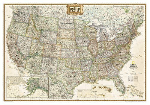 United States Executive Wall Map - Laminated