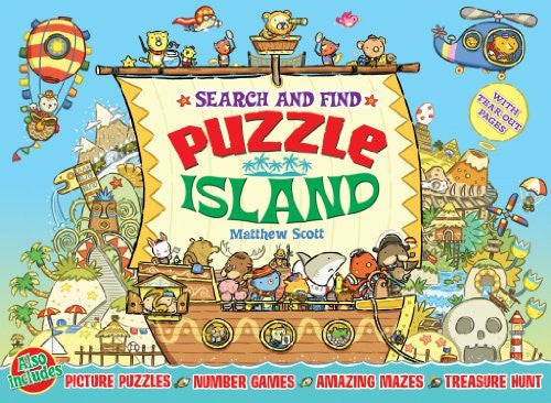 Search & Find Puzzle Island: Picture Puzzles, Number Games, Amazing Mazes, Treasure Hunt