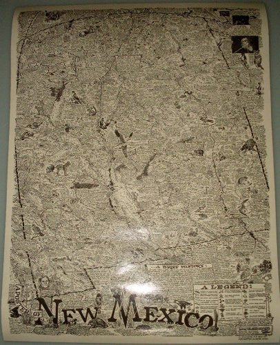 us topo - A Poster of New Mexico Gloss Laminated - Wide World Maps & MORE! - Book - Wide World Maps & MORE! - Wide World Maps & MORE!