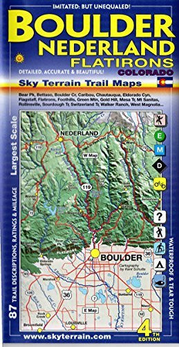 Boulder Nederland Trail Map 4th Edition - Wide World Maps & MORE! - Book - Sky Terrain - Wide World Maps & MORE!