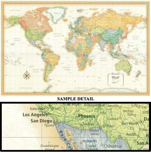 Rand Mcnally World Map (Classic Edition World Wall Map)