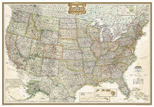 us topo - By National Geographic Maps - Ref United States Executive [Enlarged and Tubed] (National Geographic Reference Map) (2011) - Wide World Maps & MORE! - Book - Wide World Maps & MORE! - Wide World Maps & MORE!