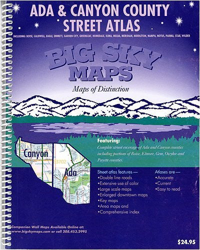 Ada & Canyon County Street Atlas (Southwest Idaho Street Atlas Series)