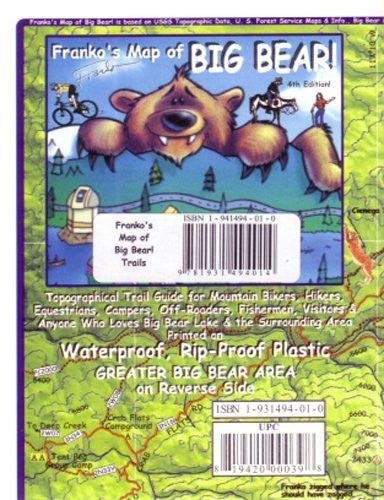 Big Bear California Trails Map Franko Maps Waterproof Maps