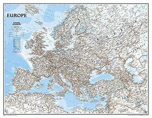 us topo - Europe Classic [Enlarged and Laminated] (National Geographic Reference Map) - Wide World Maps & MORE! - Book - Wide World Maps & MORE! - Wide World Maps & MORE!