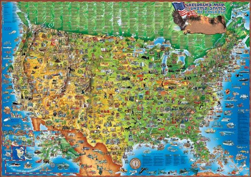 Dino's Illustrated World and USA Map Set - Wide World Maps & MORE! - Toy - Dino's Illustrated Maps - Wide World Maps & MORE!