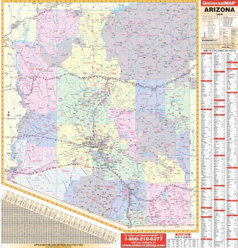 us topo - Arizona (State Wall Maps) - Wide World Maps & MORE! - Book - Wide World Maps & MORE! - Wide World Maps & MORE!