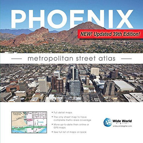 us topo - Phoenix Metropolitan Street Atlas - Wide World Maps & MORE! - Map - Wide World Maps & MORE! - Wide World Maps & MORE!