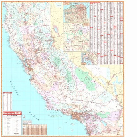Wide world maps more online catalog page 607 us topo california state wall maps wide world maps more gumiabroncs Choice Image