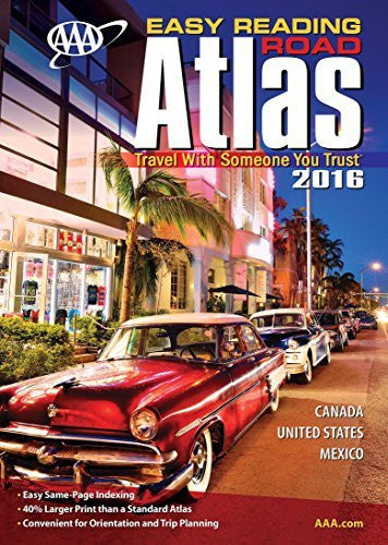 us topo - AAA Easy Reading Road Atlas 2016 - Wide World Maps & MORE! - Book - Wide World Maps & MORE! - Wide World Maps & MORE!