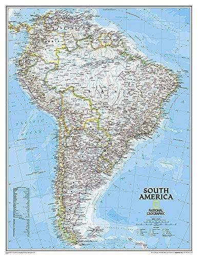 South America Classic [Enlarged and Tubed] (National Geographic Reference Map)