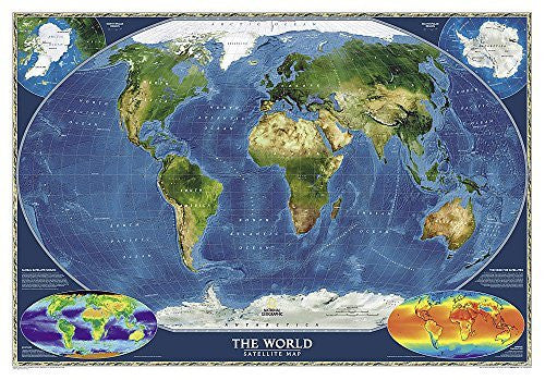 World Satellite [Tubed] (National Geographic Reference Map)