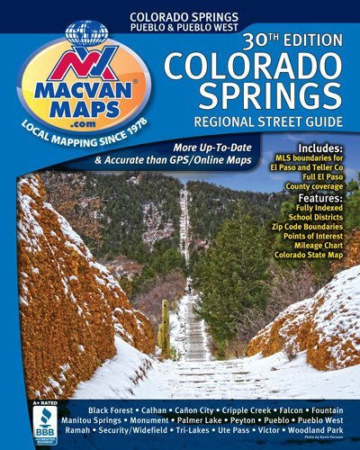 us topo - Colorado Springs Regional Street Guide 30th Edition - Wide World Maps & MORE! - Book - Wide World Maps & MORE! - Wide World Maps & MORE!