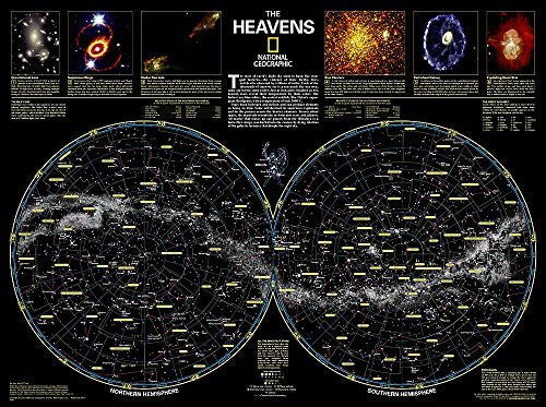The Heavens [Tubed] (National Geographic Reference Map)