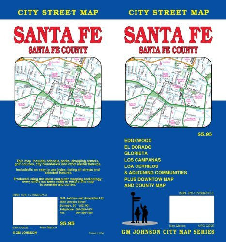 us topo - Santa Fe, NM City Street Map GMJ - Wide World Maps & MORE! - Book - Wide World Maps & MORE! - Wide World Maps & MORE!