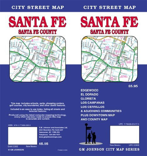 us topo - Santa Fe, SantaFe County City Street Map - Wide World Maps & MORE! - Book - Wide World Maps & MORE! - Wide World Maps & MORE!