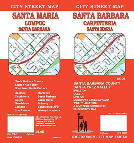 us topo - Santa Barbara / Carpinteria / Santa Maria CA Street Map - Wide World Maps & MORE! - Book - Wide World Maps & MORE! - Wide World Maps & MORE!