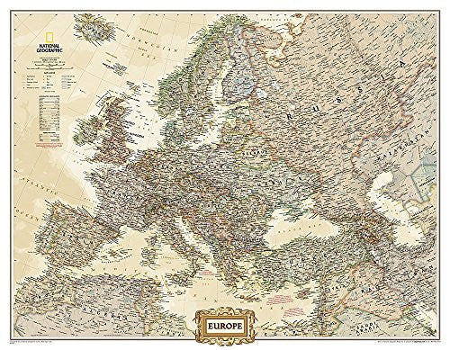 us topo - Europe Executive [Enlarged and Laminated] (National Geographic Reference Map) - Wide World Maps & MORE! - Book - Wide World Maps & MORE! - Wide World Maps & MORE!