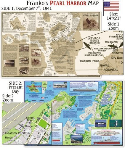 us topo - Franko Maps Pearl Harbor Map for Scuba Divers and Snorkelers - Wide World Maps & MORE! - Sports - 699 - Wide World Maps & MORE!