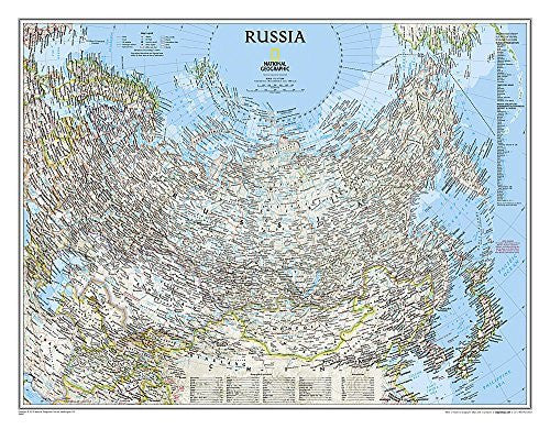 us topo - Russia Classic [Laminated] (National Geographic Reference Map) - Wide World Maps & MORE! - Book - National Geographic - Wide World Maps & MORE!
