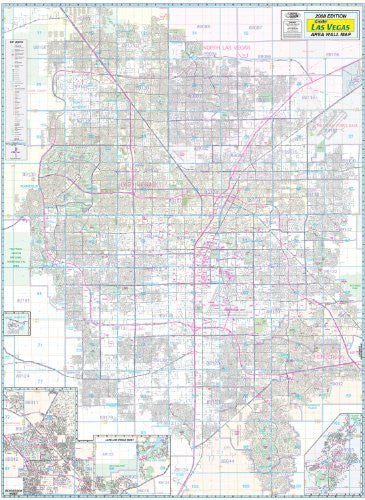 us topo - Greater Las Vegas Area Wall Map Gloss Laminated - Wide World Maps & MORE! - Map - Metro Maps - Wide World Maps & MORE!