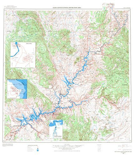 Glen Canyon National Recreatin Area, Utah-Arizona - Wide World Maps & MORE! - Book - Wide World Maps & MORE! - Wide World Maps & MORE!