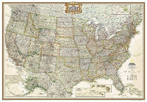 United States Executive, enlarged &, laminated (National Geographic Reference Map)
