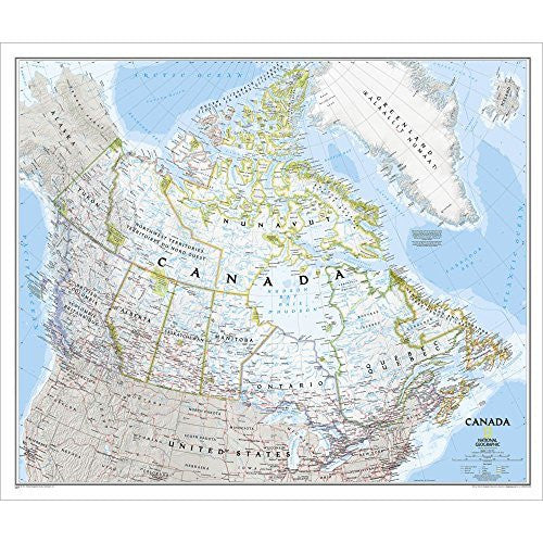 us topo - Canada Classic Political Wall Map - Wide World Maps & MORE! - Book - Wide World Maps & MORE! - Wide World Maps & MORE!