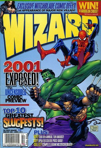 Wizard The Guide to Comics Magazine #113 (No. 113), February 2001 (Cover 2 of 2, Hulk, Spider-Man and Wolverine by Joe Quesada)