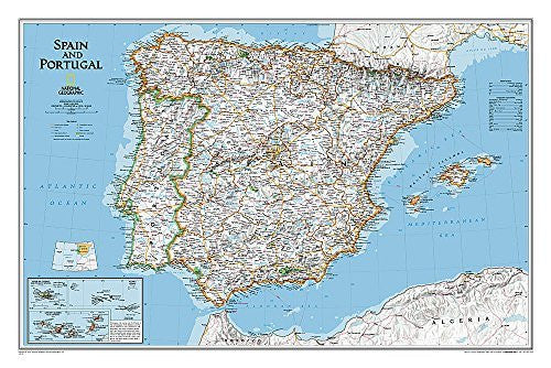 Spain and Portugal Classic [Tubed] (National Geographic Reference Map)