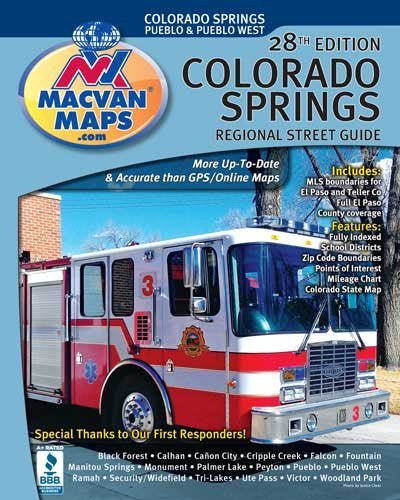 us topo - Colorado Springs Regional Street Atlas 28th Edition - Wide World Maps & MORE! - Book - Wide World Maps & MORE! - Wide World Maps & MORE!