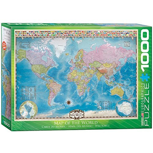 us topo - EuroGraphics Map of The World Puzzle (1000-Piece) - Wide World Maps & MORE! - Toy - EuroGraphics - Wide World Maps & MORE!