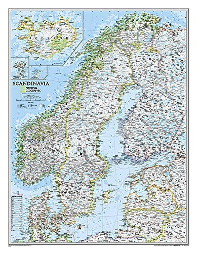 us topo - Scandinavia Classic [Tubed] (National Geographic Reference Map) - Wide World Maps & MORE! - Book - National Geographic - Wide World Maps & MORE!