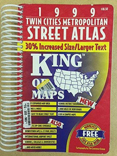1999 Twin Cities Metropolitan Street Atlas (Hudson King of Maps Series) (USA Streefinder Atlases)