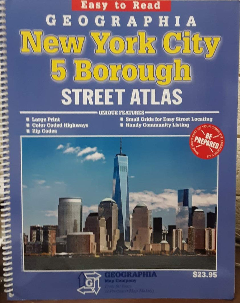 Easy to Read Geographia New York City 5 Borough Street Atlas - Wide World Maps & MORE!