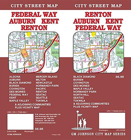 Renton / Auburn / Kent / Federal Way, Washington Street Map