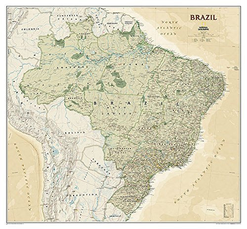 Brazil Executive [Laminated] (National Geographic Reference Map)