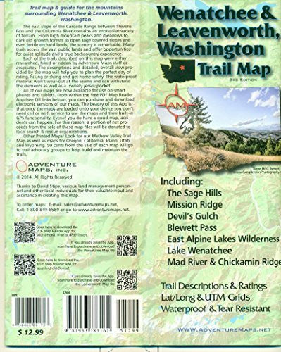 Wenatchee & Leavenworth, Washington Trail Map - Wide World Maps & MORE! - Toy - Adventure Maps - Wide World Maps & MORE!