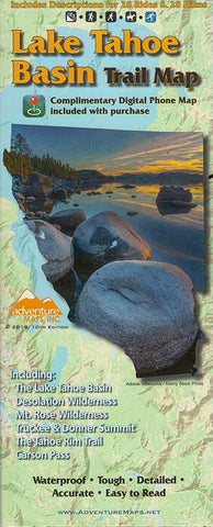 Lake Tahoe Basin Trail Map