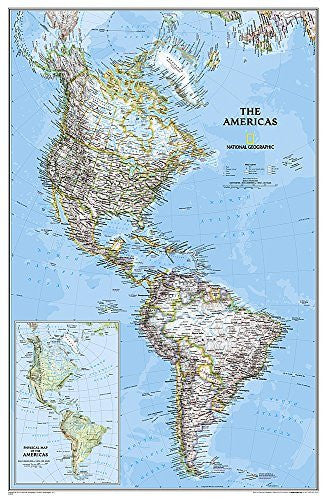 The Americas Classic [Tubed] (National Geographic Reference Map)
