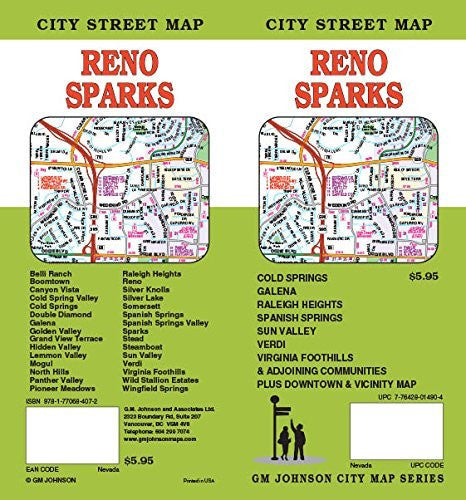 Reno / Sparks NV Street Map