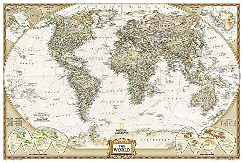 World Executive Poster Sized Wall Map (Tubed World Map) (National Geographic Reference Map) by National Geographic Maps - Reference (2012-10-01)