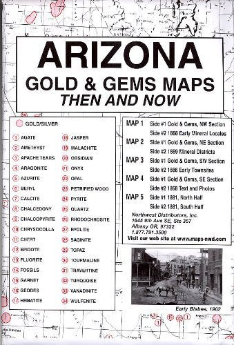 Arizona, Gold & Gems, 5;Map Set Then & Now