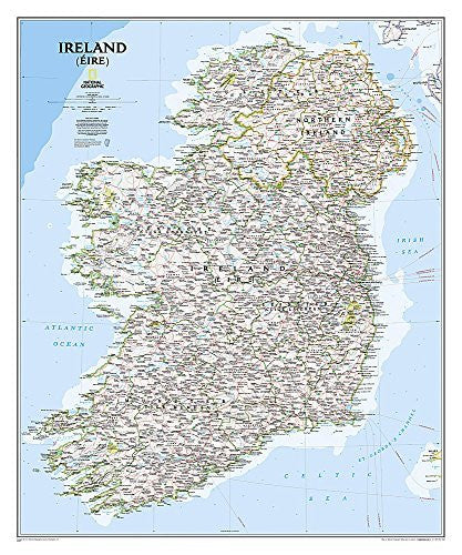 us topo - Ireland Classic [Tubed] (National Geographic Reference Map) - Wide World Maps & MORE! - Book - Wide World Maps & MORE! - Wide World Maps & MORE!