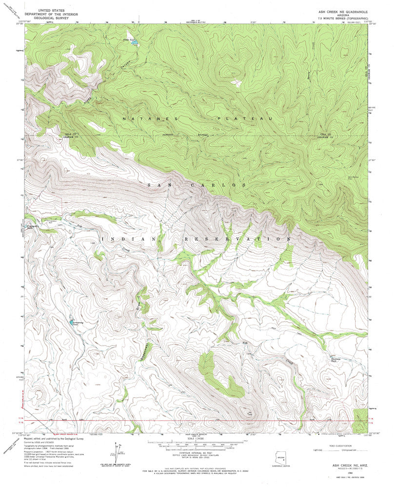 us topo - ASH CREEK NE, Arizona 7.5' - Wide World Maps & MORE! - Map - Wide World Maps & MORE! - Wide World Maps & MORE!
