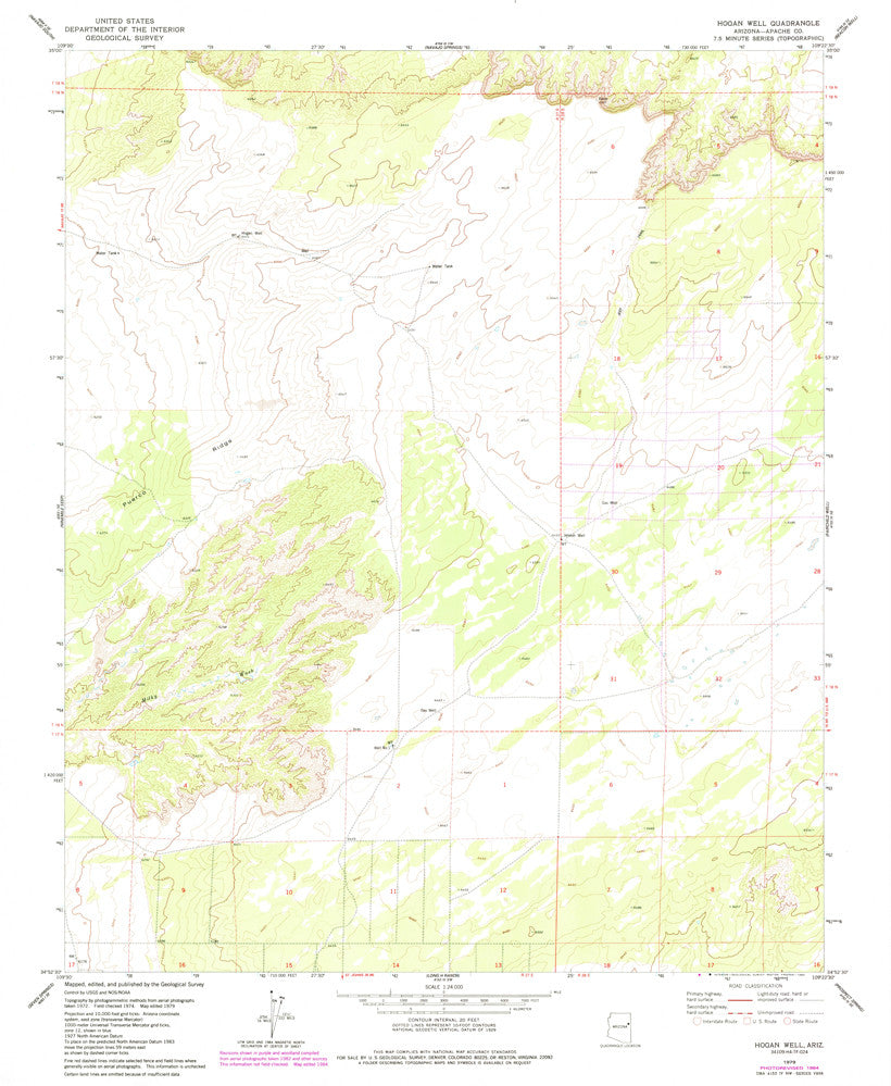 HOGAN WELL, Arizona (7.5'×7.5' Topographic Quadrangle)