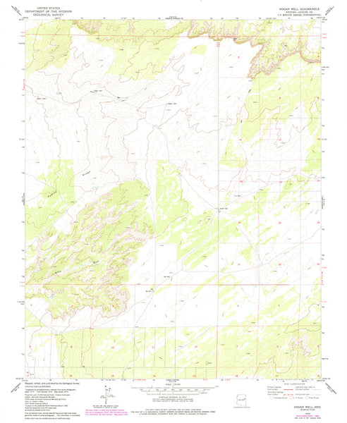 us topo - HOGAN WELL, Arizona (7.5'×7.5' Topographic Quadrangle) - Wide World Maps & MORE! - Map - Wide World Maps & MORE! - Wide World Maps & MORE!