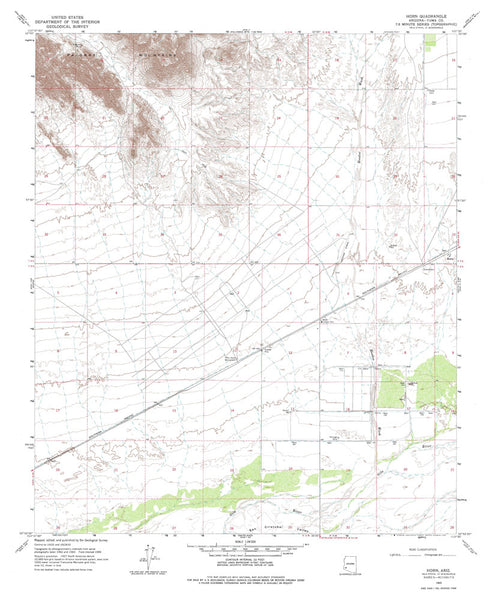 us topo - HORN, Arizona 7.5' - Wide World Maps & MORE! - Map - Wide World Maps & MORE! - Wide World Maps & MORE!
