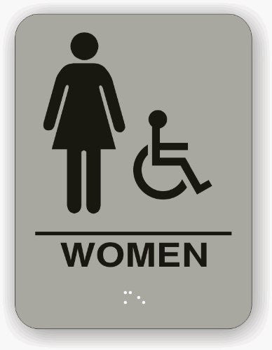 us topo - Women Restroom Sign Light Grey - Wide World Maps & MORE! - Lawn & Patio - Recognition Specialties - Wide World Maps & MORE!